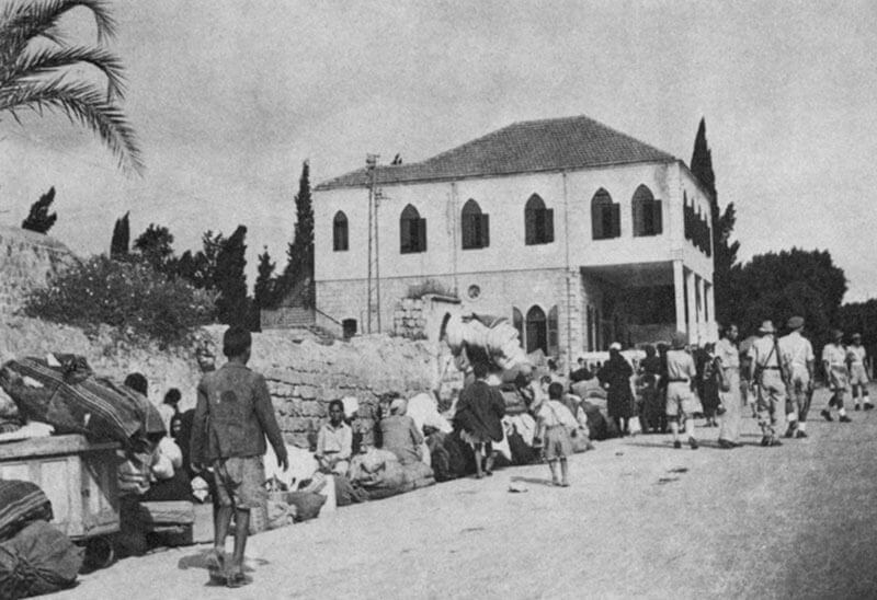 Palestinians expelled from al-Ramla in 1948 during operation Dani.