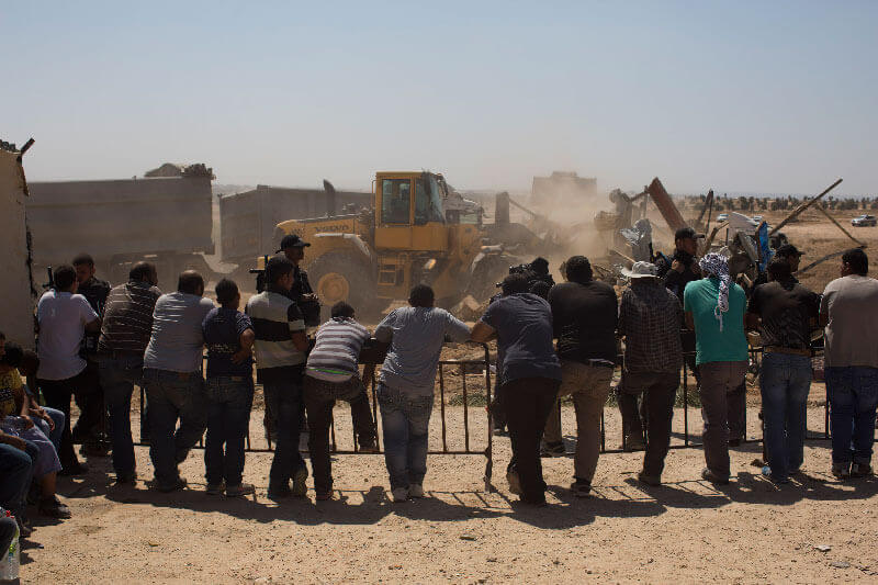 Demolition of the Bedouin village of Al Araqib, Negev, Israel, 12.6.2014