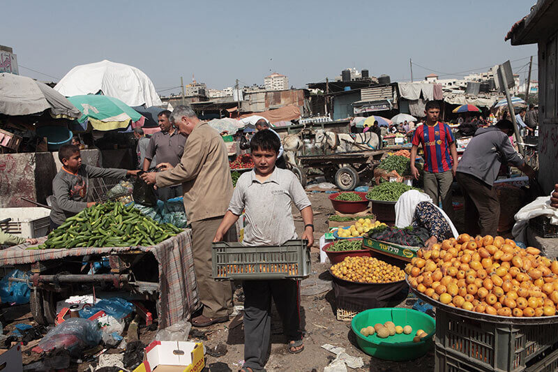 Markt in Gaza City, 3.5.2012 (Foto: Activestills)