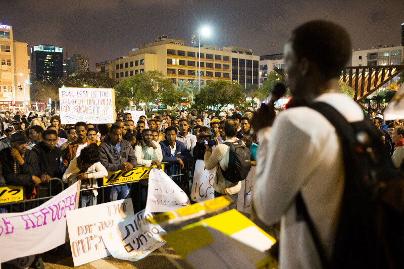 Protest against Holot Detention Center, Tel Aviv, Israel, 29.3.2014.